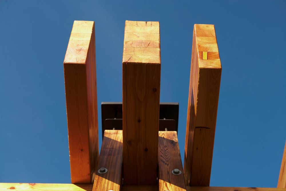 brown wooden planks from pergola